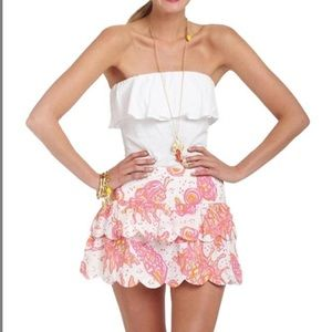 Lilly Pulitzer Conched Out ruffle skirt